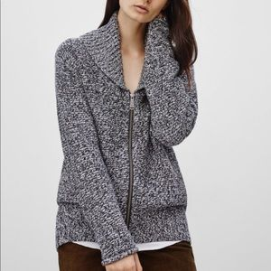 Aritzia TNA Wool Zip Up Sweater